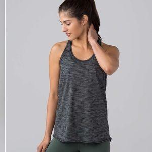 Lululemon Yoga Tank Heathered  Black